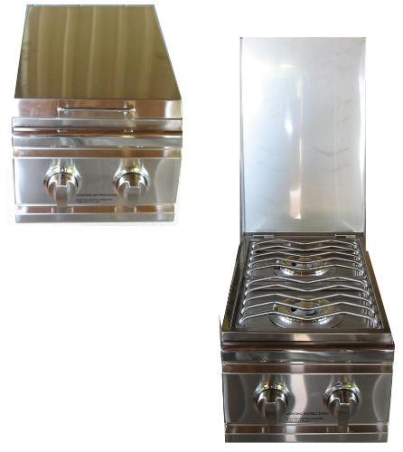 Rdb1 stainless steel drop in side burner for outdoor kitchens for Drop in grills for outdoor kitchens