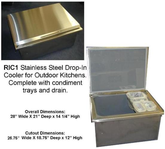 Ric1 New Rcs Brand Stainless Steel Drop In Cooler For